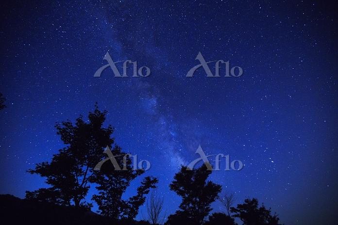 広島県 満天の星空と天の川