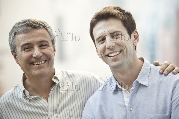 Father and adult son, portrait