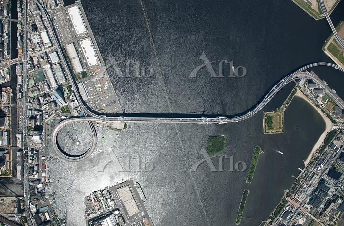 東京都 レインボーブリッジ 俯瞰撮影 高度1,000m