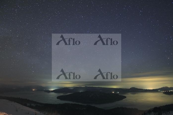 北海道 星空と屈斜路湖 美幌峠より