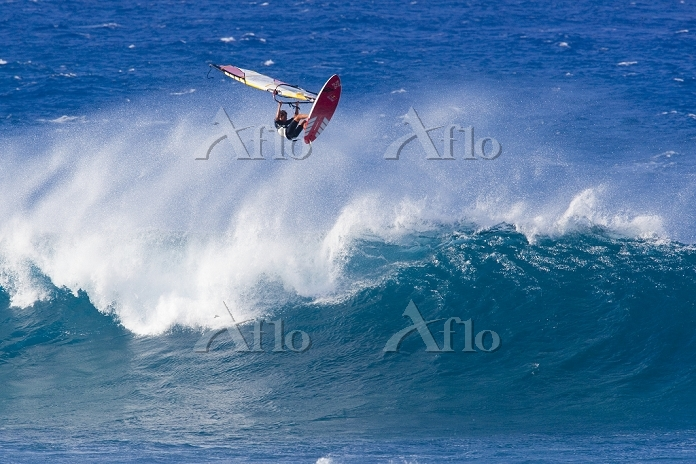 アメリカ合衆国 ハワイ マウイ島 ウィンドサーフィン