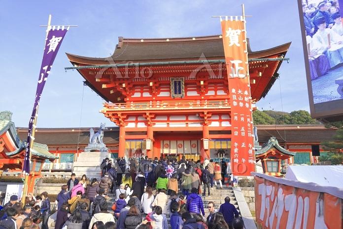 京都府  初詣の伏見稲荷大社
