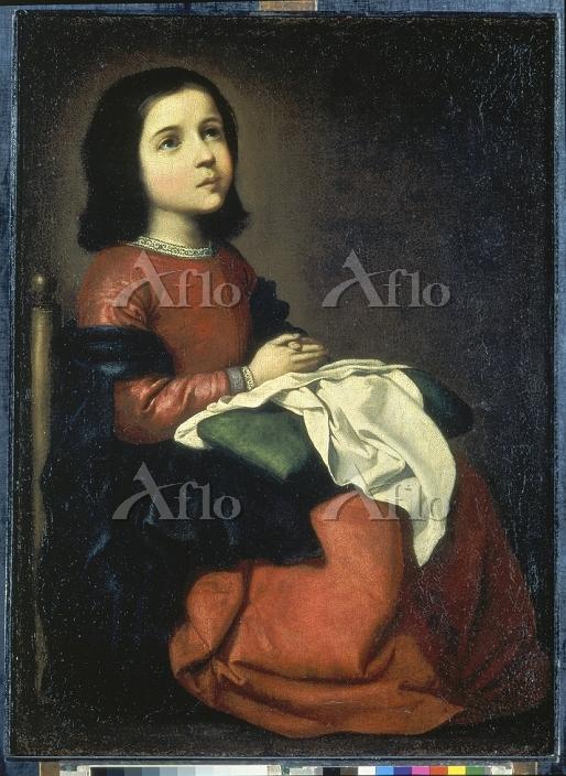 スルバラン 「聖母マリアの少女時代」