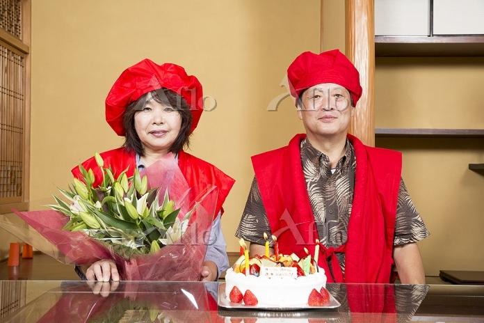 還暦を祝う夫婦
