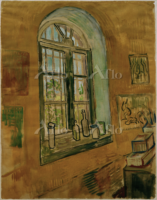 ゴッホ 「病室のフィンセントの画室の窓」