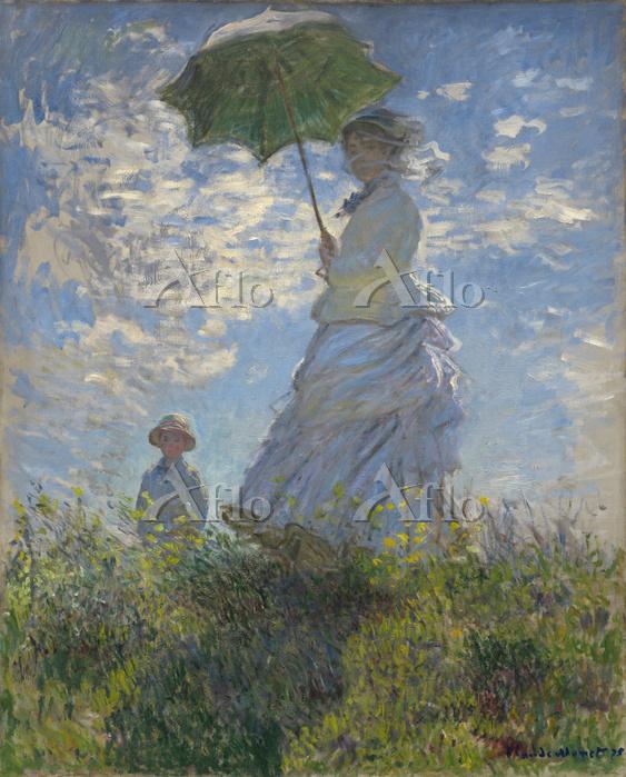 クロード・モネ 「散歩、日傘をさす女」