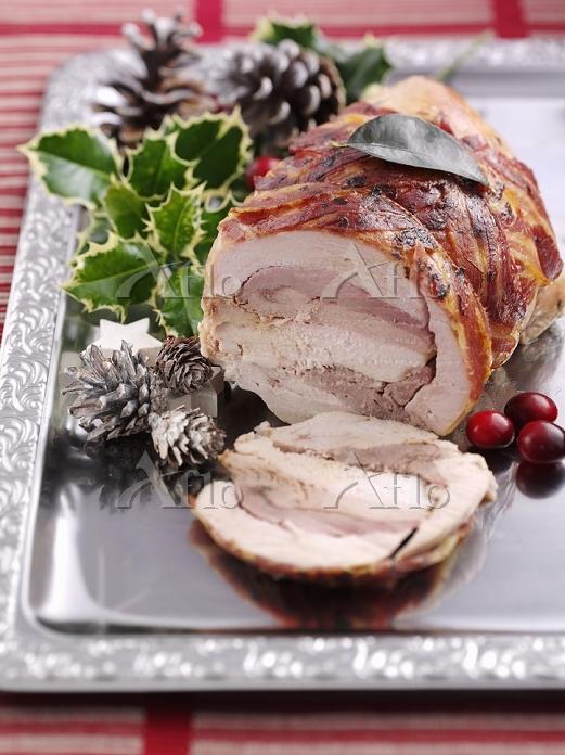 A festive Christmas roast made・・・