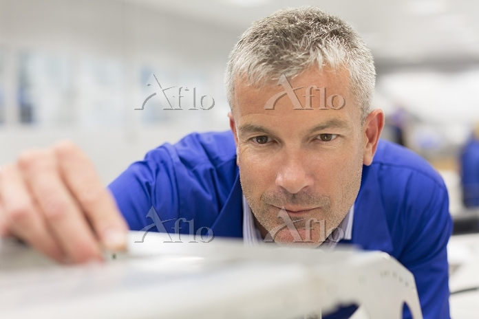 Close up of worker examining p・・・