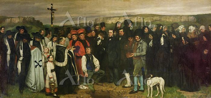 ギュスターヴ・クールベ 「オルナンの埋葬」