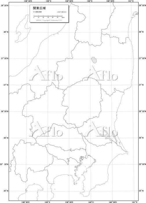 関東広域 白地図