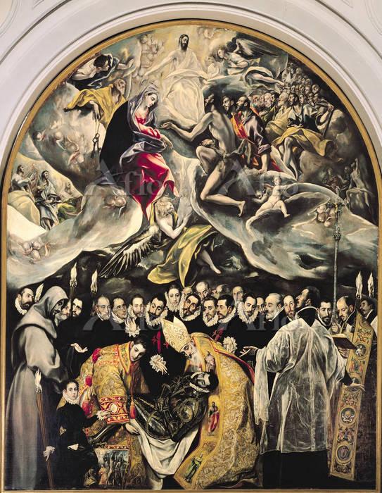 エル・グレコ 「オルガス伯の埋葬」
