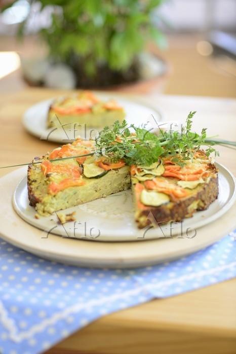Potato tart with vegetables an・・・