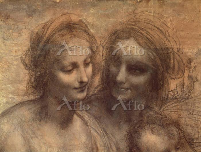 レオナルド・ダ・ヴィンチ  「聖アンナと聖母子、洗礼者ヨハネ・・・