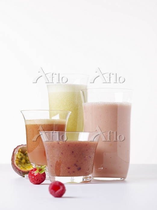 Assorted smoothies