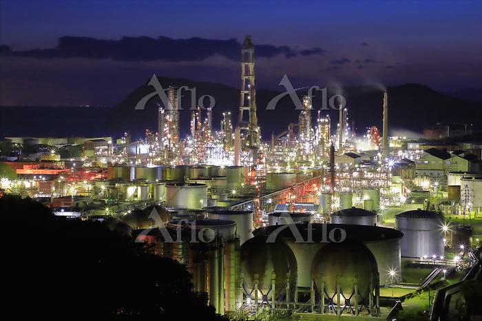 和歌山県 有田市 精油工場の夜景