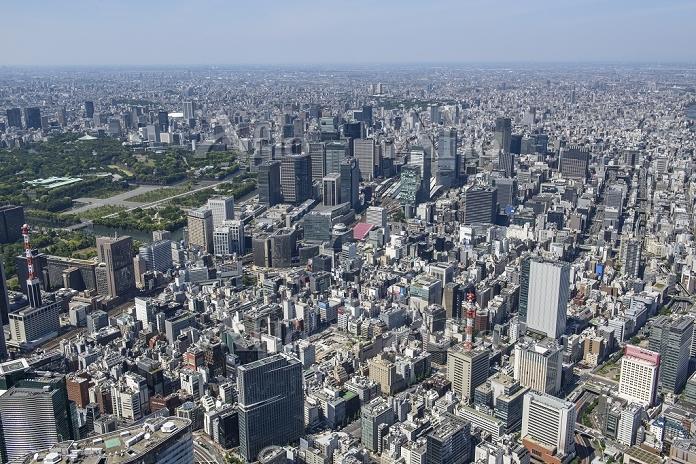 銀座六丁目10地区再開発より東京駅方面