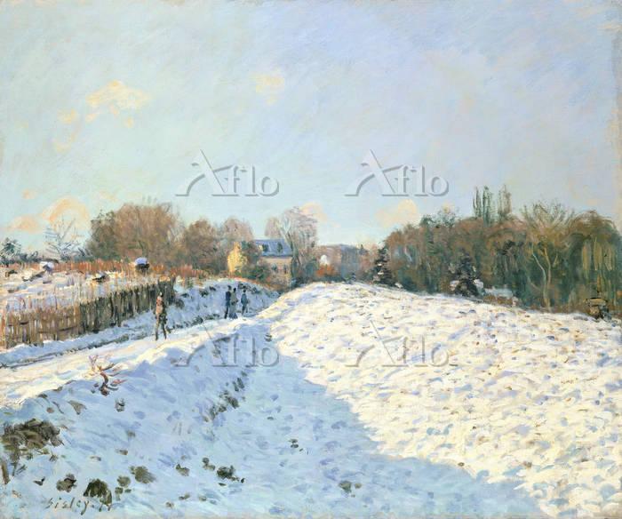 シスレー 「アルジャントゥイユ、雪の効果」