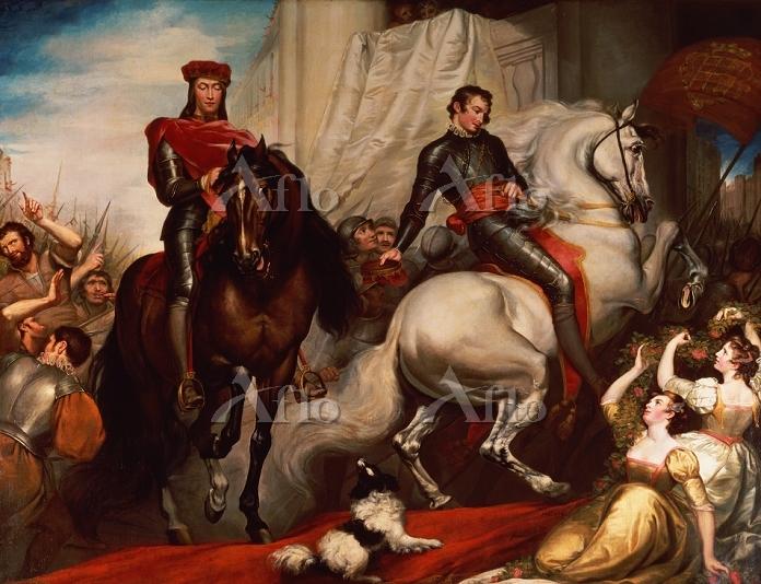 ジェームス・ノースコート 「ロンドンへのリチャード2世とボリ・・・
