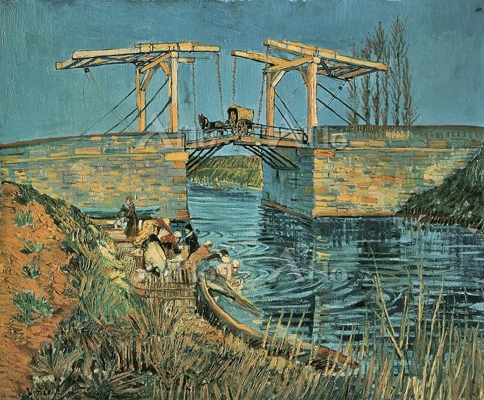 ゴッホ 「洗濯女のいるアルルのラングロワ橋」