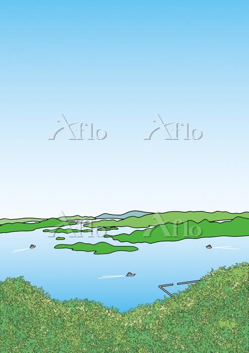 広島県 瀬戸内海 三原市 筆影山からの眺め
