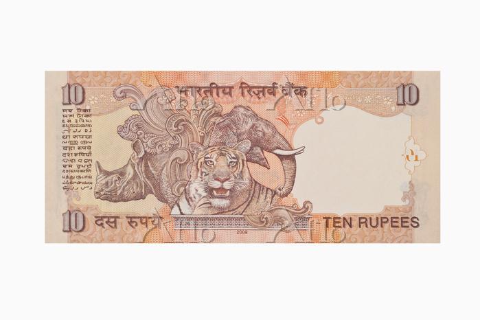 インド紙幣 10ルピー(裏面)