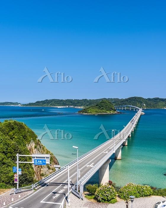 山口県 夏の下関市 角島大橋