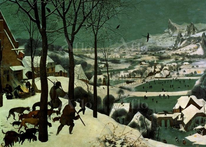 ピーテル・ブリューゲル 1世 「雪中の狩人」