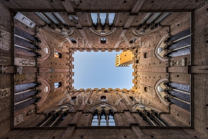 Courtyard of Torre del Mangia,・・・