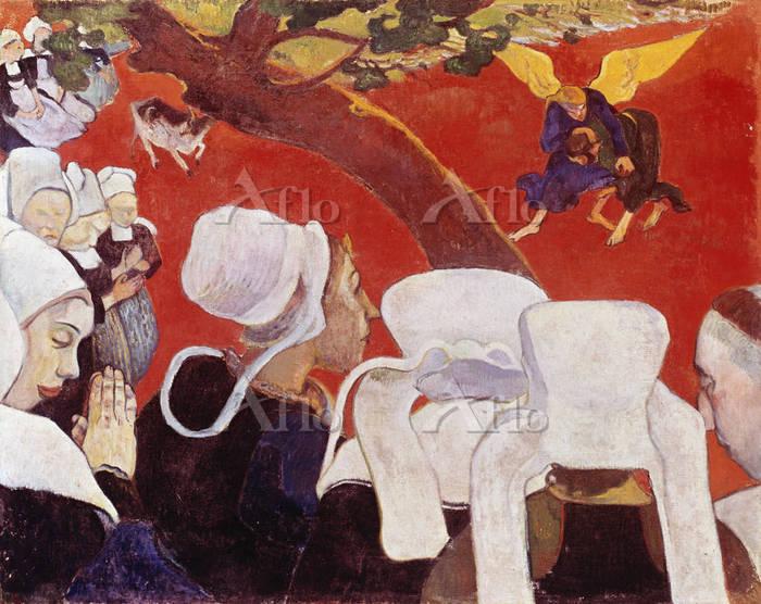 ゴーギャン 「説教の後の幻想、天使と戦うヤコブ」