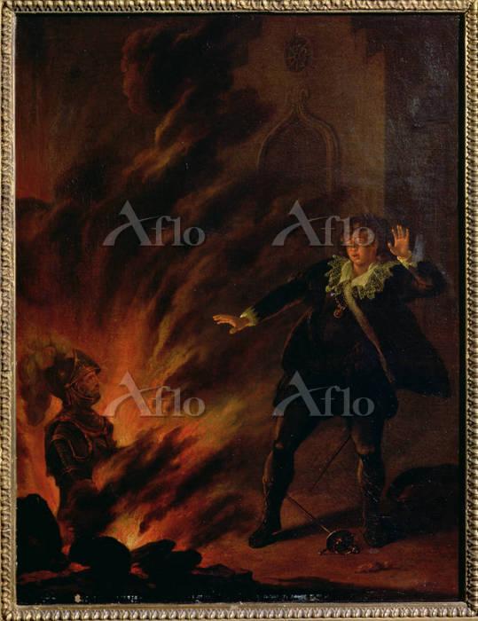 英国の画家 「ハムレットと父の亡霊との邂逅(第1幕第4場)」