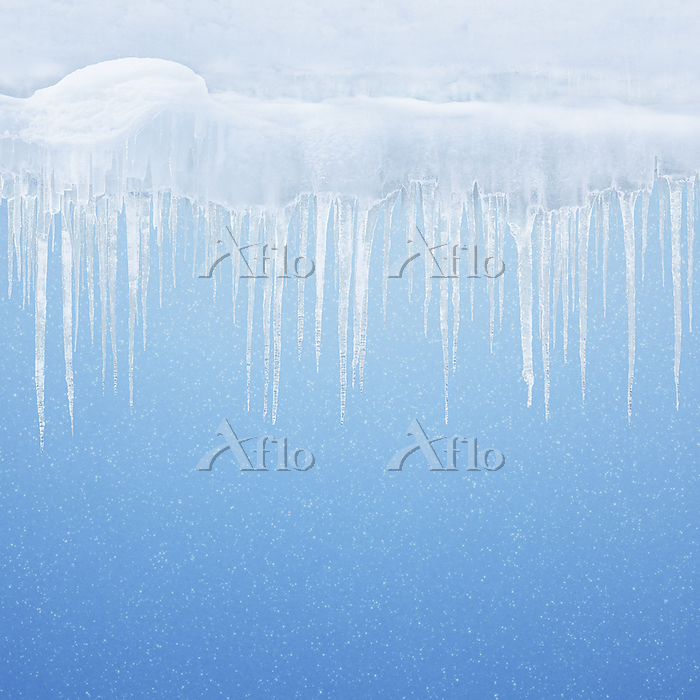つららの冬の背景