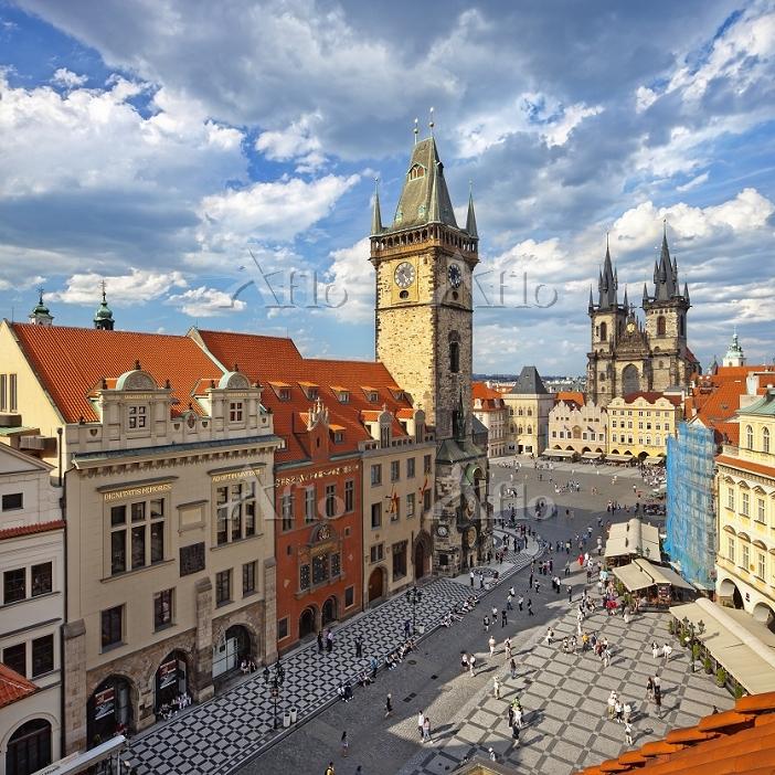 チェコ プラハの旧市街広場