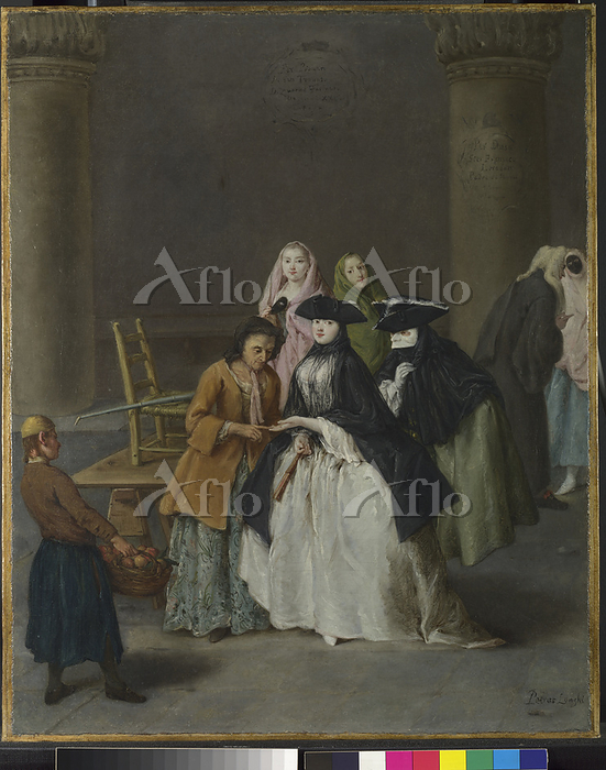 ピエトロ・ロンギ「ヴェネツィアの占い師」