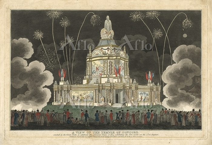 Fireworks at Temple of Concord・・・