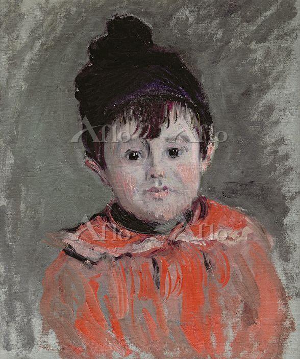 クロード・モネ 「玉房付の帽子を被ったミシェル・モネの肖像」