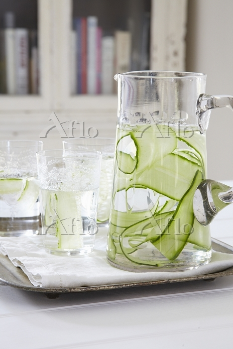 Water with cucumber strips in ・・・