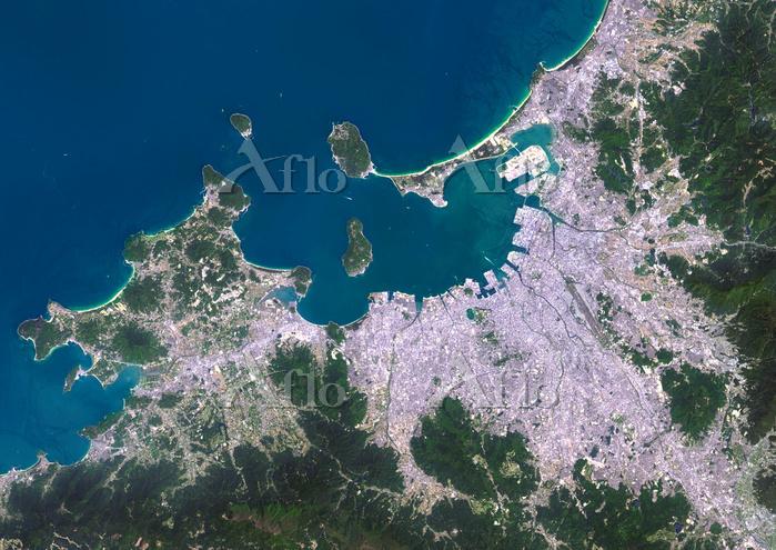 衛星写真 福岡