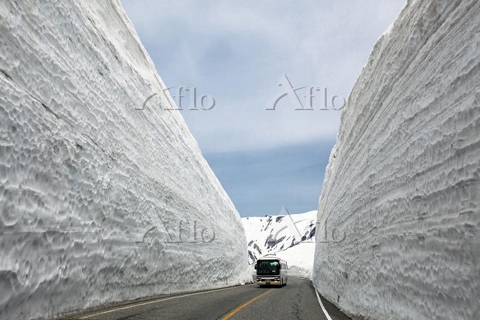 富山県 立山室堂 雪の大谷 富山