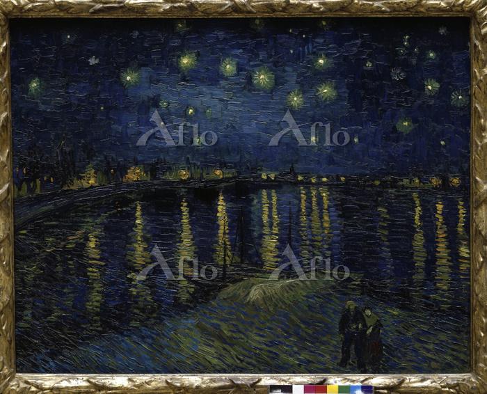 ゴッホ 「ローヌ河の星月夜」