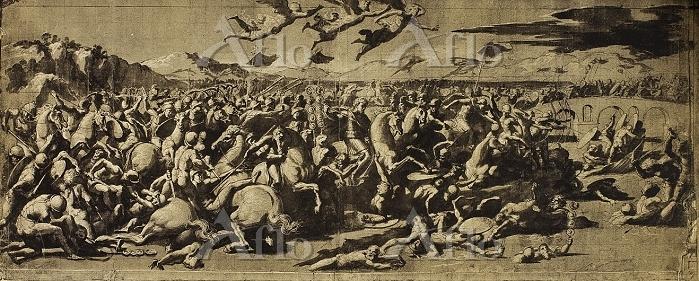 ラファエロ 「ミルウィウス橋の戦い」