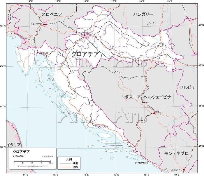 クロアチア 交通図