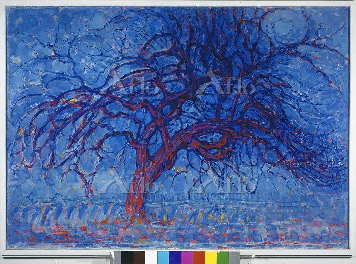 モンドリアン 「赤い木 (夜)」