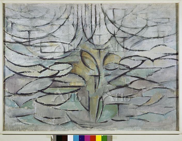モンドリアン 「花咲くリンゴの木」