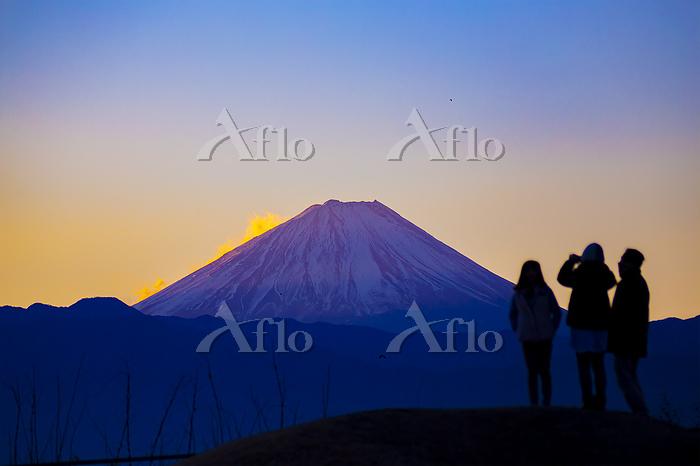 山梨県 新春の富士山