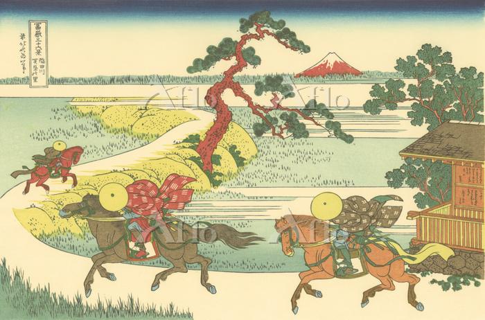 葛飾北斎「富嶽三十六景 隅田川関屋の里」