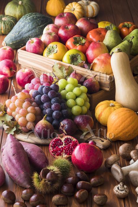 秋の野菜と果物
