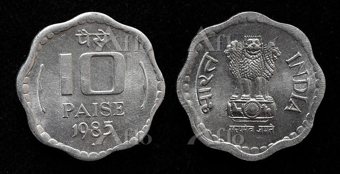 インド 10パイサ硬貨