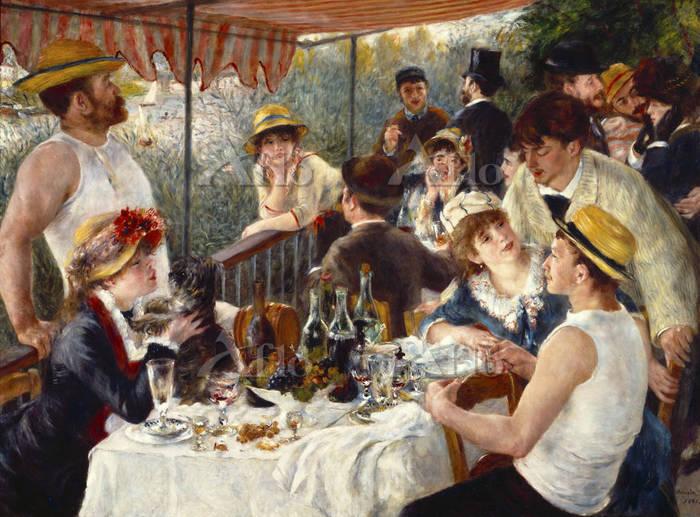 ルノワール  「舟遊びをする人々の昼食」