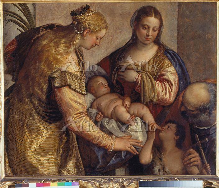 ヴェロネーゼ 「聖家族と聖バルバラ、幼い洗礼者聖ヨハネ」