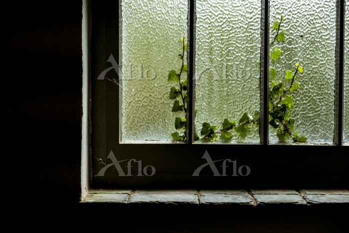 A cottage window with a crackl・・・